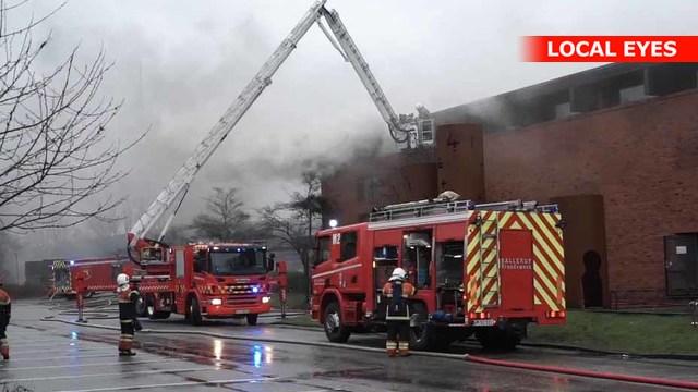 Skovlunde: Skole i brand – nu varsles der med sirenerne | LOCAL EYES