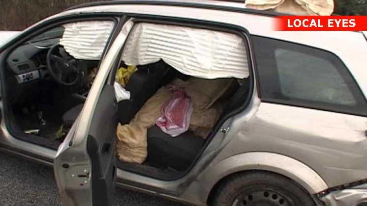 Bilen var fyldt med sække med khat
