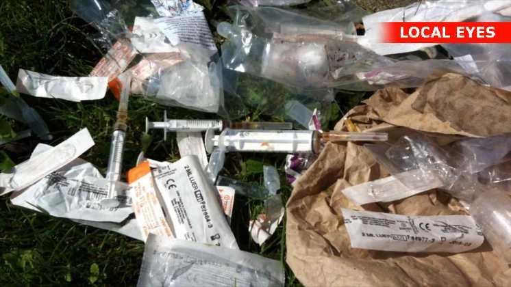 Flere steder på Vesterbro flyder det med efterladenskaber fra de mange narkomaner