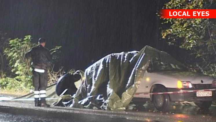 taxachauffør dræbt ved Køge