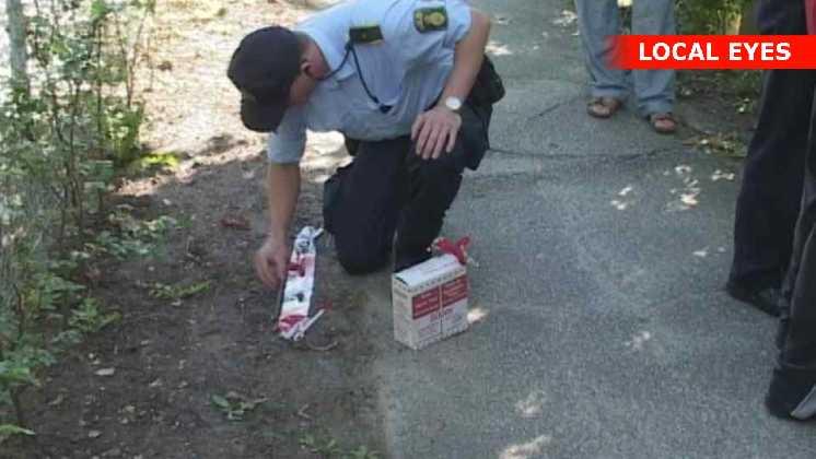Politi undersøger gerningsstedet