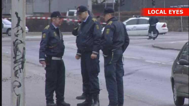 Politi på stedet