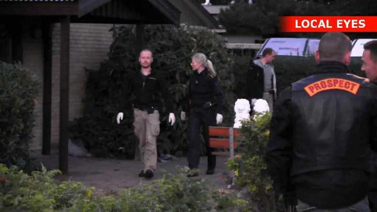 Politiet fandt bla nogle våben i rockerborgen
