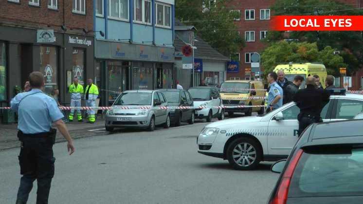 Politiet afspærrede området
