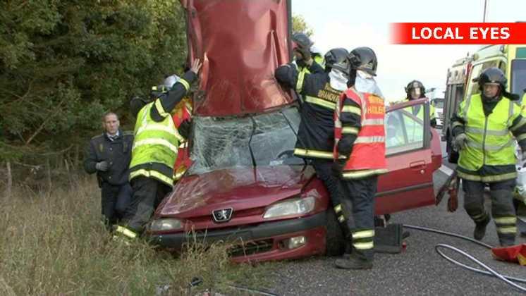 Passageren overlever ulykken