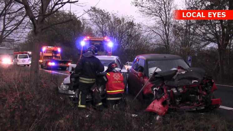 3 biler var involveret i ulykken
