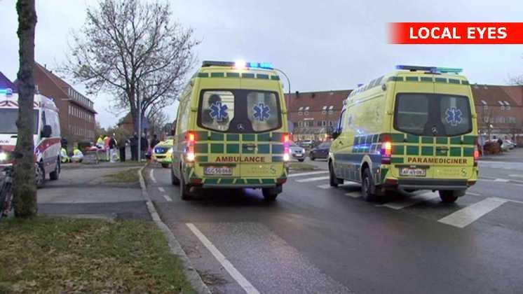 4 personer kom til skade ved ulykken