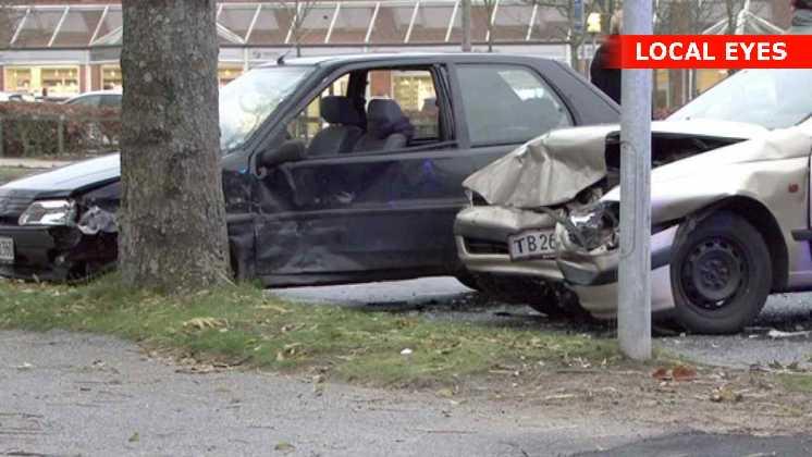 To biler kørte sammen i Ringsted by