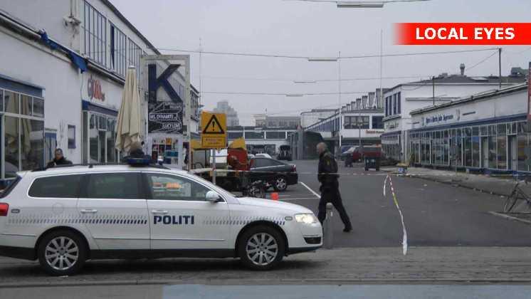 Hele Lørdagen søgte politiet efter spor fra gerningsmanden