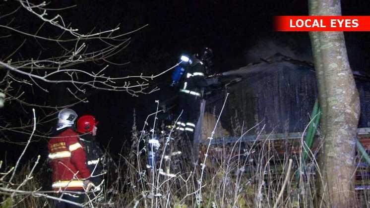 Tirsdag aften udbrød der en brand i et kolonihavehus ved Aabenraa