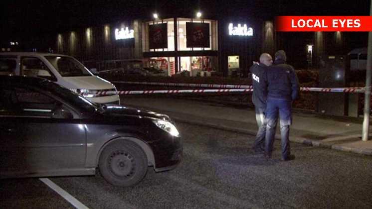 To personer stukket ned i Ringsted