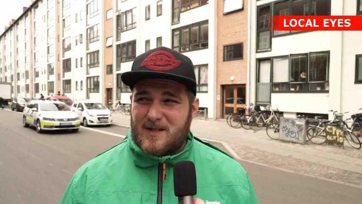 Sebastian Stillbo, Anders Andersen rengøring var vidne til politiaktionen.